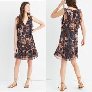 Madewell   Lily Ruffle Dress in Sea Floral
